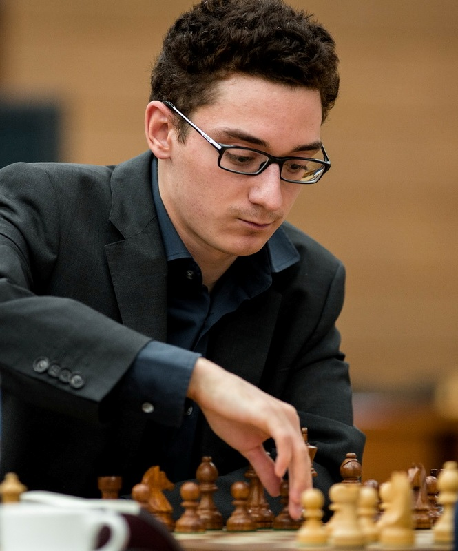 Sole leader after Round 4: Fabiano Caruana  (Pic Source: http://khantymansiysk2015.fide.com/)