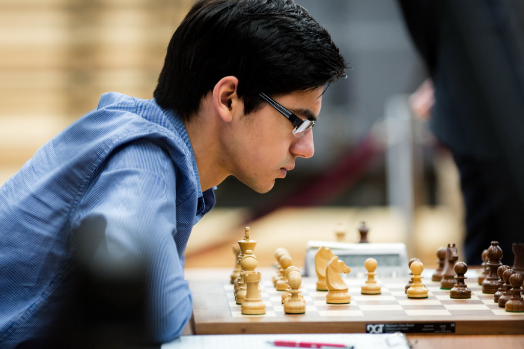 One of the winners of Round 9: Anish Giri (Pic Source: khantymansiysk2015.fide.com)