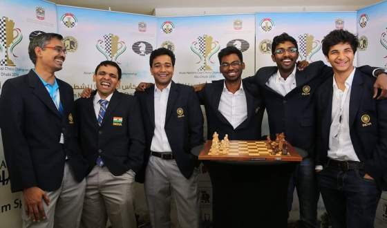 The victorious Indian Team at the Asian Nations Cup 2016. (Source: www.chessdom.com)