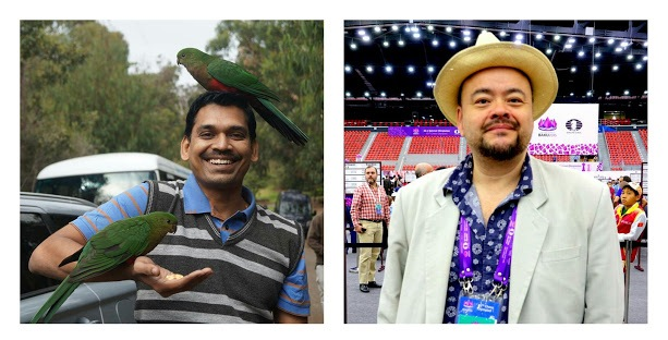 Jovial & colourful: Ramesh (India) and Tisdall (Norway)