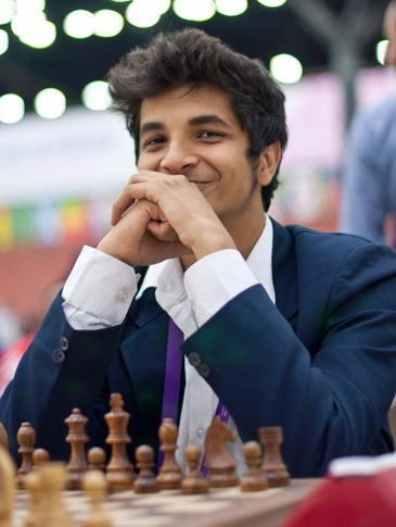 "Vidit: ""I knew I'd be chosen!"" (Source: chess.com)"