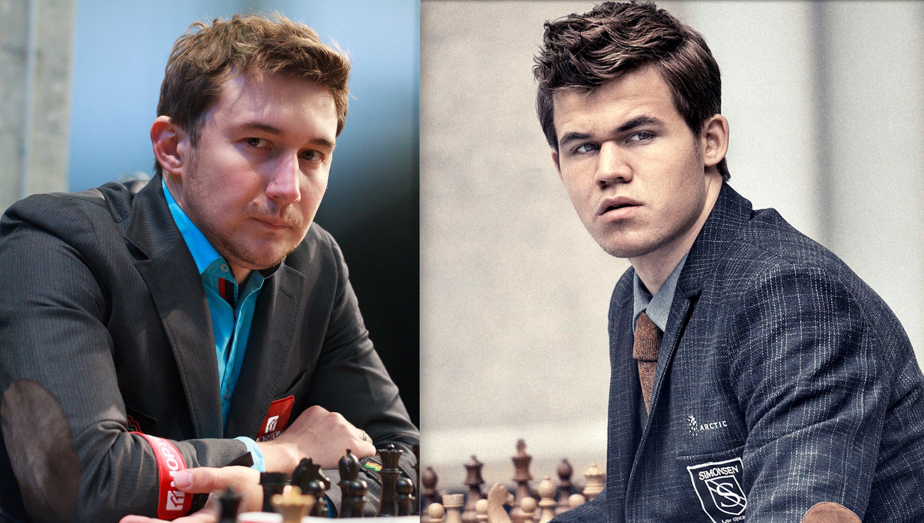 The World Chess Championship match between Sergey Karjakin (L) and World Champion Carlsen (R) will be played out from Nov 11 to Nov 30.