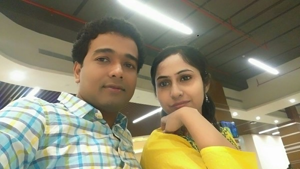 Deep with his fiance, Tania Thakur