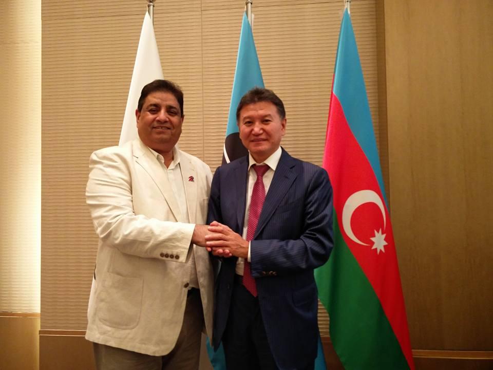 Bharat Singh Chauhan with FIDE President Illyumzhinov